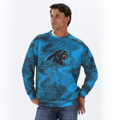 Carolina Panthers BlackPanther Blue Static Crew Neck Sweatshirt