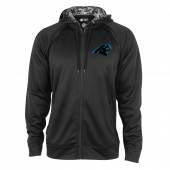Carolina Panthers Black Full Zip Hood With Digital Camo Hood Detail