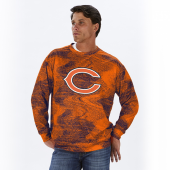 Chicago Bears NavyOrange Static Crew Neck Sweatshirt