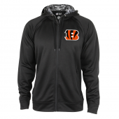 Cincinnati Bengals Black Full Zip Hood With Digital Camo Hood Detail