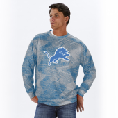 Detroit Lions Rainstorm BlueSilver Static Crew Neck Sweatshirt