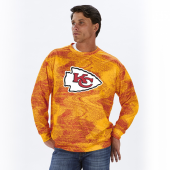 Kansas City Chiefs RedGold Static Crew Neck Sweatshirt