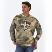 New Orleans Saints BlackBurn Gold Static Crew Neck Sweatshirt