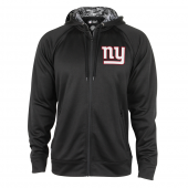 New York Giants Black Full Zip Hood With Digital Camo Hood Detail