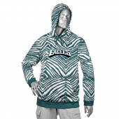 Philadelphia Eagles Pine Needle GreenMetallic Silver Zebra Hoodies