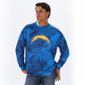 Los Angeles Chargers NavyLight Blue Static Crew Neck Sweatshirt