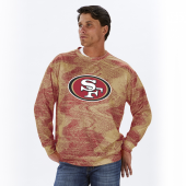 San Francisco 49ers RedBronze Static Crew Neck Sweatshirt