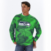 Seattle Seahawks NavyNeon Green Static Crew Neck Sweatshirt