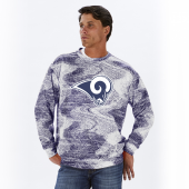 Los Angeles Rams NavyWhite Static Crew Neck Sweatshirt