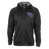 Tennessee Titans Black Full Zip Hood With Digital Camo Hood Detail