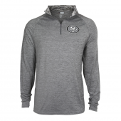 Mens San Francisco 49ers Gray Space Dye Quarter Zip Pullover