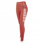 Womens San Francisco 49ers Faux Mesh Print Legging
