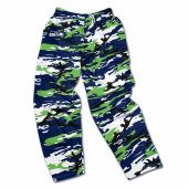 Seattle Seahawks Navy BlueNeon Green Camo Pant