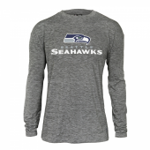 Seattle Seahawks Gray Space Dye Long Sleeve Tshirt