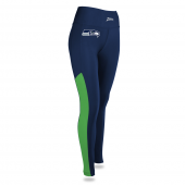 Womens Seattle Seahawks Solid Legging With Side Mesh Inset