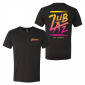 Zubaz Retro Gradient Black Tri Blend Tee Shirt Sm