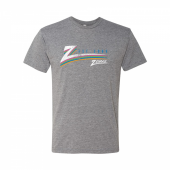 Zubaz Color Z Heather Grey Tri Blend Tee Shirt Sm