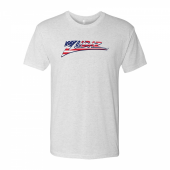 Zubaz American Flag White Tri Blend Tee Shirt