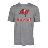 Mens Tampa Bay Buccaneers Large GraphicLogo Gray Space Dye Tshirt