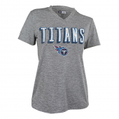 Womens Tennessee Titans Gray Space Dye Tshirt