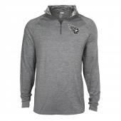 Mens Tennessee Titans Gray Space Dye Quarter Zip Pullover