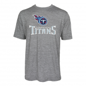 Mens Tennessee Titans Large GraphicLogo Gray Space Dye Tshirt