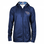 Tennessee Titans Space Dye Full Zipper Hoodie