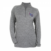 Womens Tennessee Titans Gray Space Dye Quarter Zip Pullover