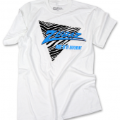 BlackFluorescent Blue Triangle TShirt