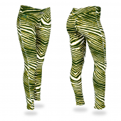 North Dakota State University Bison GreenGold Zebra Legging