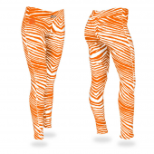 Clemson Tigers Orange Zebra Legging