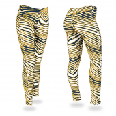 Univ West Virginia NavyGold Zebra Legging