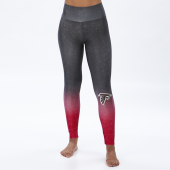 Atlanta Falcons BlackRed Distressed Gradient Legging