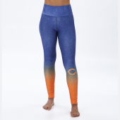 Chicago Bears NavyOrange Distressed Gradient Legging
