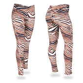 Chicago Bears Navy BlueOrange Zebra Legging