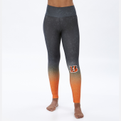 Cincinnati Bengals BlackOrange Distressed Gradient Legging