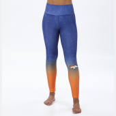 Denver Broncos NavyOrange Distressed Gradient Legging