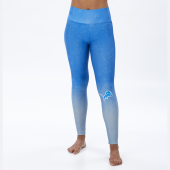 Detroit Lions Rainstorm BlueSilver Distressed Gradient Legging