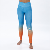 Miami Dolphins MarinaOrange Distressed Gradient Legging