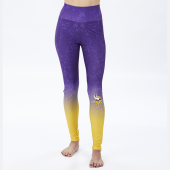 Minnesota Vikings PurpleGold Distressed Gradient Legging