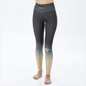 New Orleans Saints BlackBurn Gold Distressed Gradient Legging