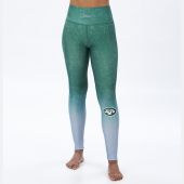 New York Jets GreenSilver Distressed Gradient Legging