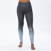 Oakland Raiders BlackSilver Distressed Gradient Legging
