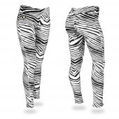 Oakland Raiders BlackMetallic Silver Zebra Legging
