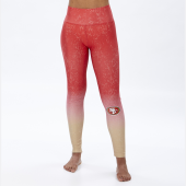 San Francisco 49ers RedBronze Distressed Gradient Legging