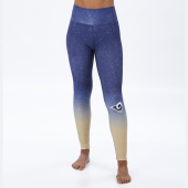 Los Angeles Rams NavyMetallic Gold Distressed Gradient Legging