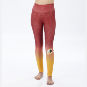 Washington Redskins MaroonGold Distressed Gradient Legging