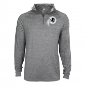 Mens Washington Redskins Gray Space Dye Quarter Zip Pullover