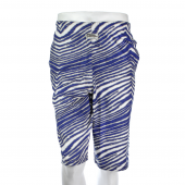 Honolulu BlueMetallic Silver Zebra Short