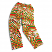 GreenRedYellow Zebra Pant